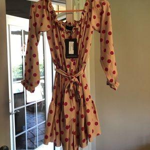 Dresses & Skirts - Dusty pink polka dot dress size 4 US BNWT
